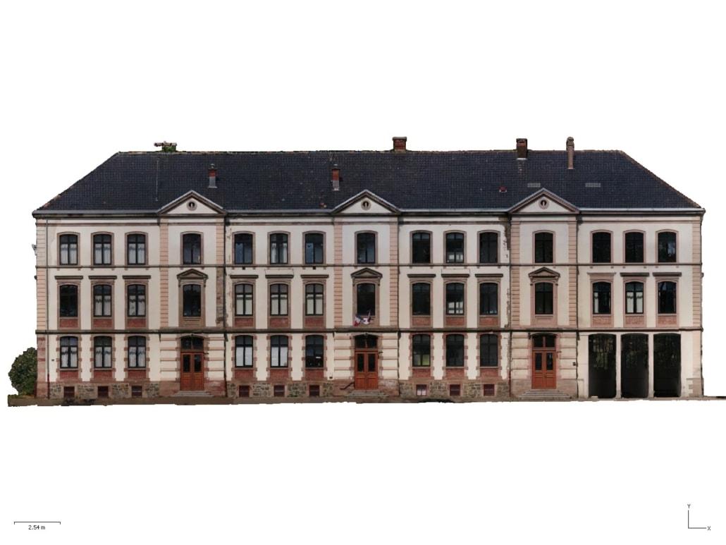Orthomosaique facade