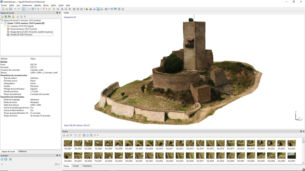 Modélisation 3D Photoscan